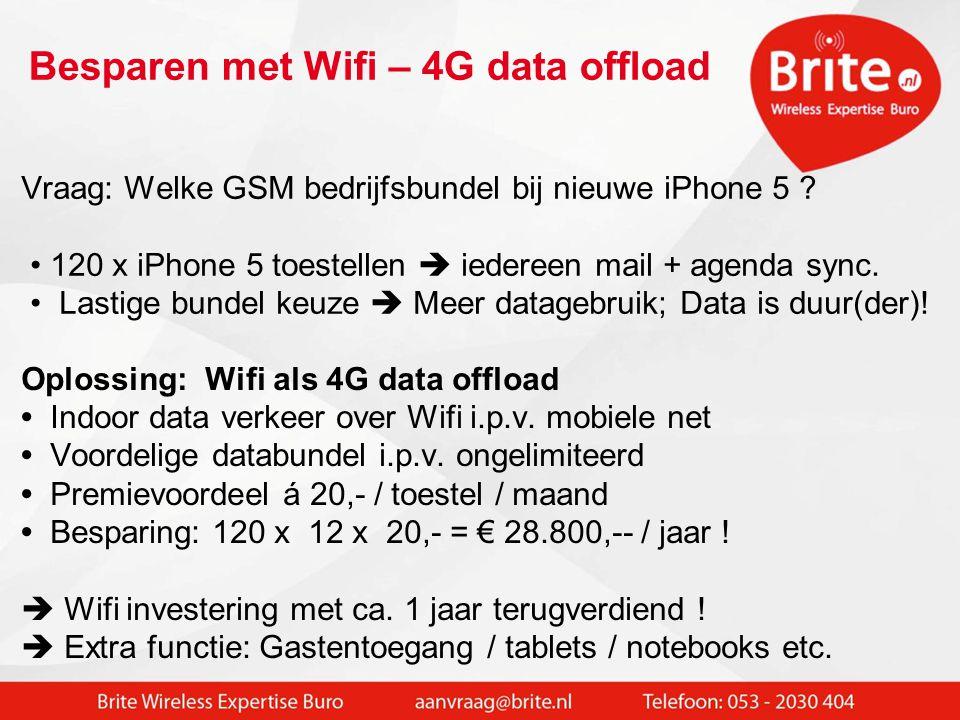 Besparen met Wifi – 4G data offload