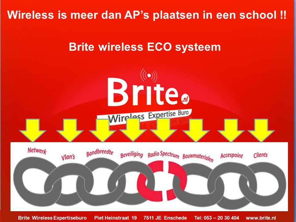 Wireless is meer dan AP's plaatsen in een school !!