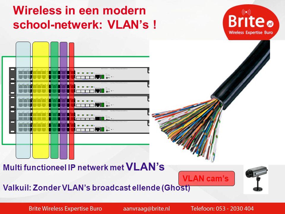 Wireless in een modern school-netwerk: VLAN's !