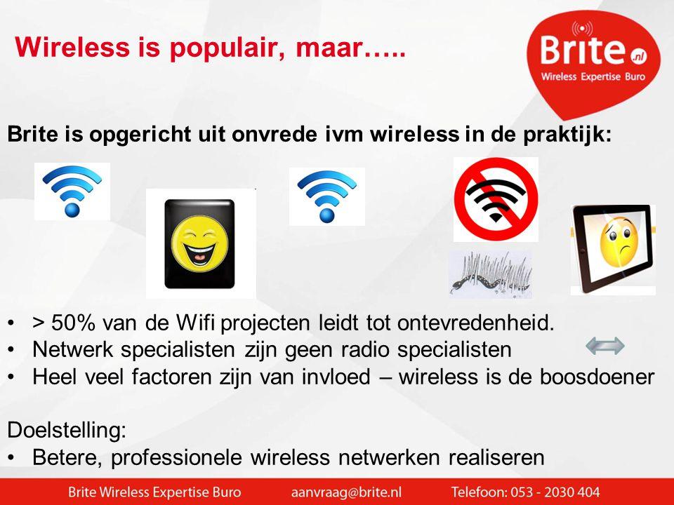 Wireless is populair, maar…..