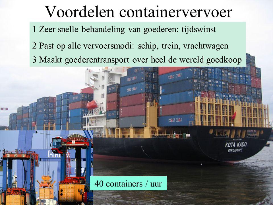 Voordelen containervervoer