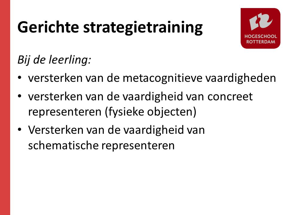 Gerichte strategietraining