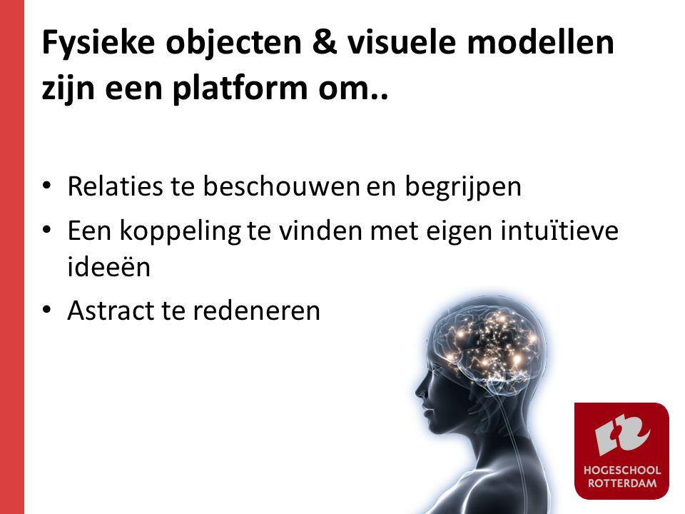 Fysieke objecten & visuele modellen zijn een platform om..