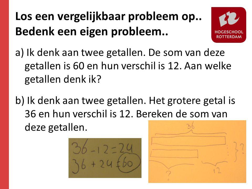 Los een vergelijkbaar probleem op.. Bedenk een eigen probleem..
