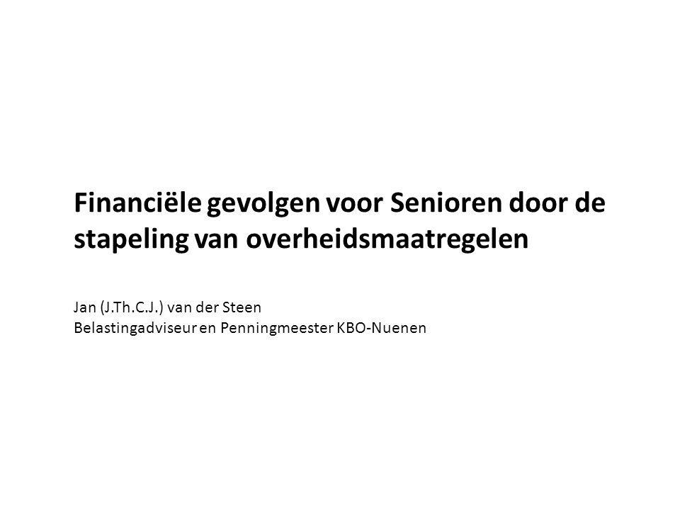 Financiële gevolgen voor Senioren door de stapeling van overheidsmaatregelen