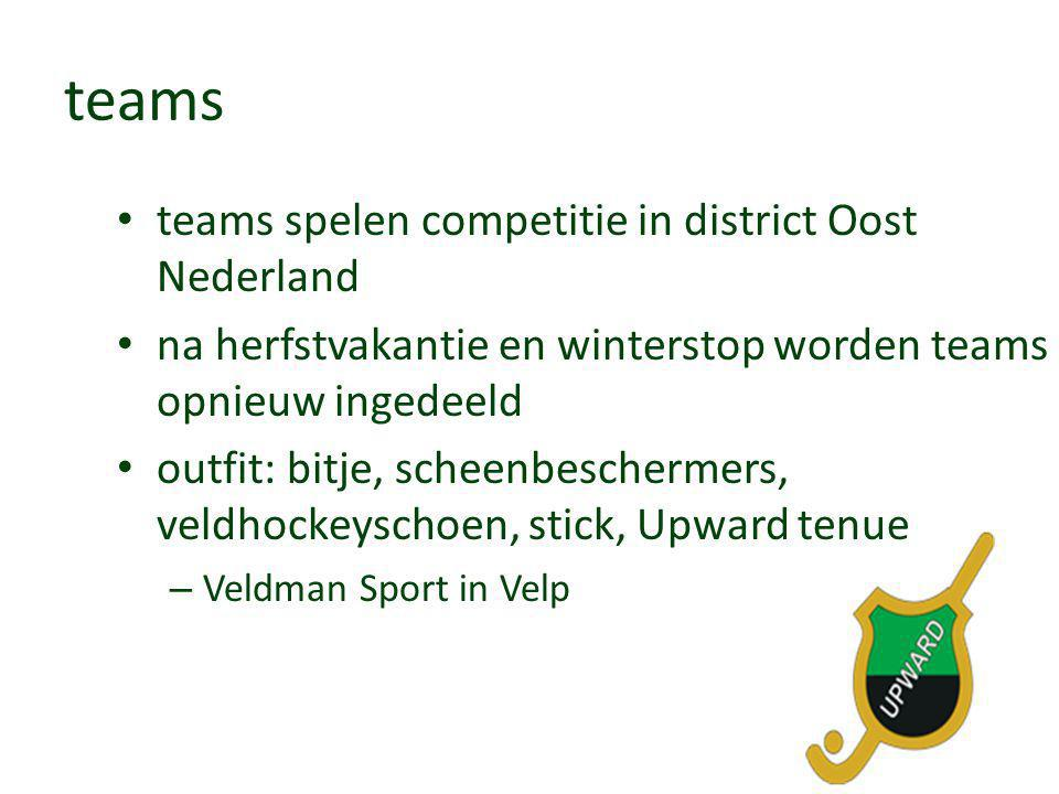 teams teams spelen competitie in district Oost Nederland