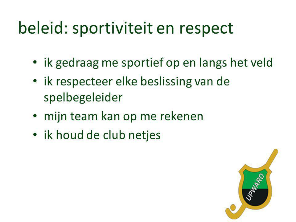 beleid: sportiviteit en respect