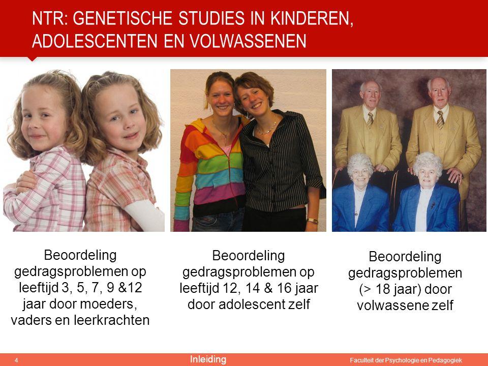 NTR: genetische studies in kinderen, adolescenten en volwassenen