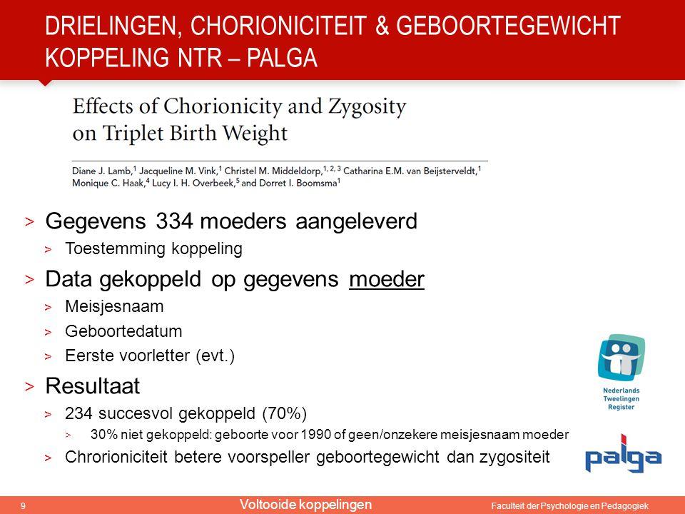 Drielingen, chorioniciteit & geboortegewicht Koppeling NTR – PALGA