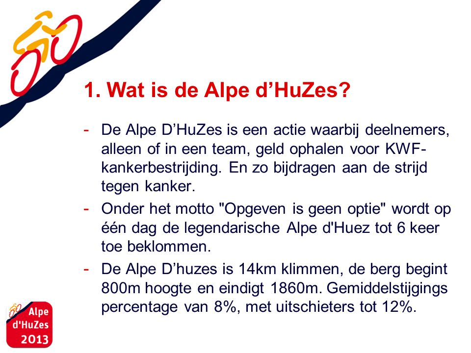 1. Wat is de Alpe d'HuZes