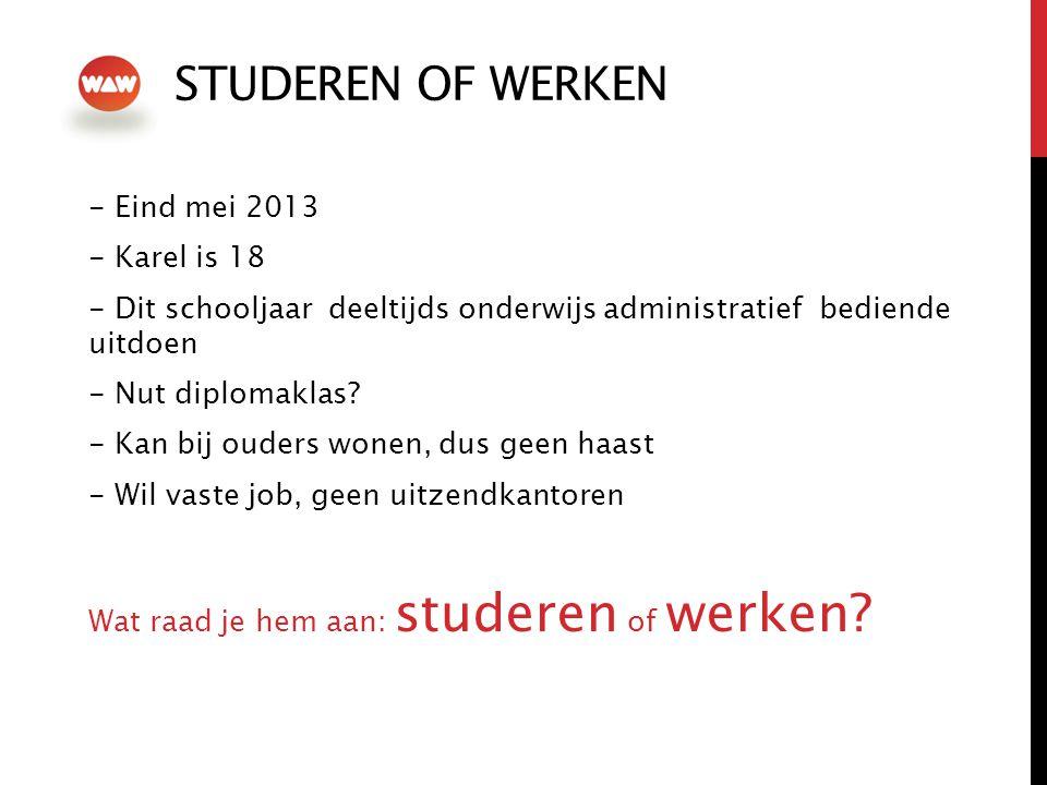 STUDEREN of werken