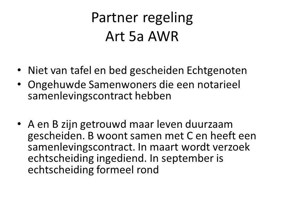 Partner regeling Art 5a AWR