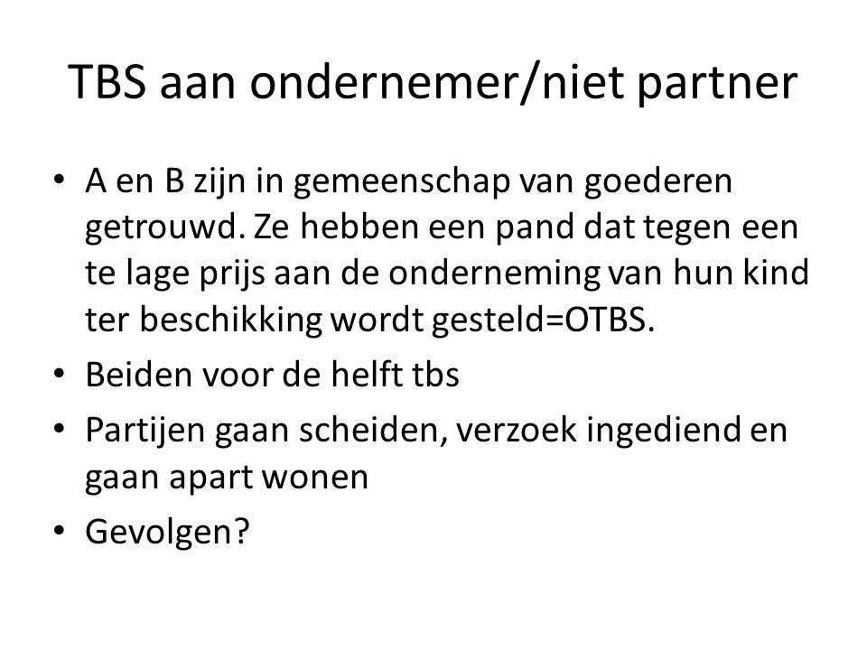 TBS aan ondernemer/niet partner