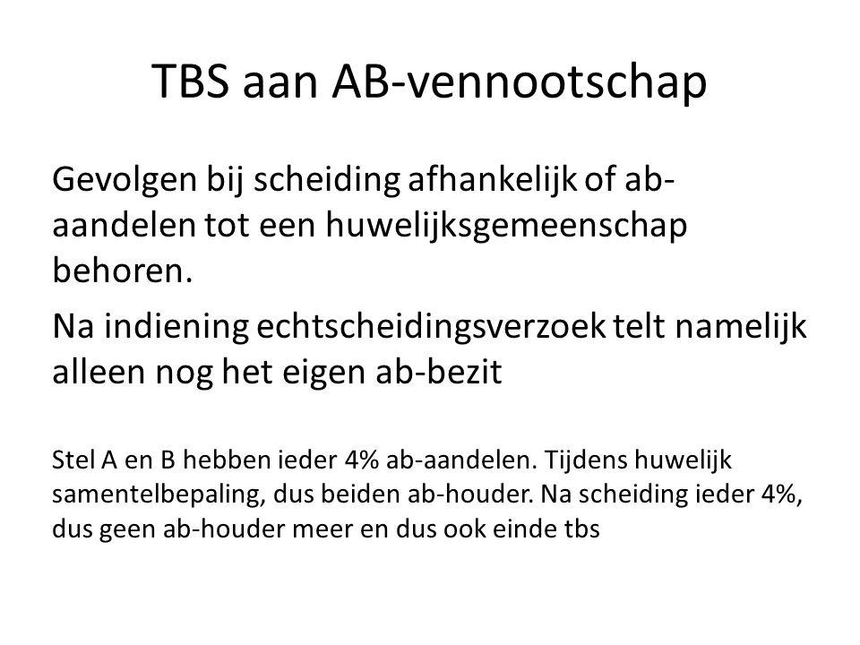 TBS aan AB-vennootschap
