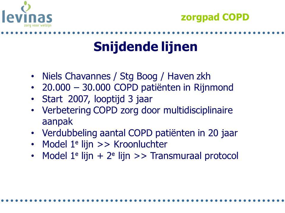 Snijdende lijnen zorgpad COPD Niels Chavannes / Stg Boog / Haven zkh