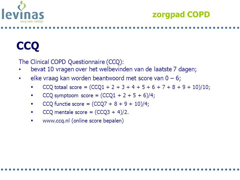 CCQ zorgpad COPD The Clinical COPD Questionnaire (CCQ):