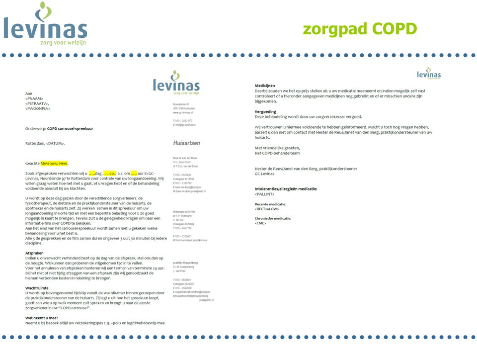 zorgpad COPD Jolande