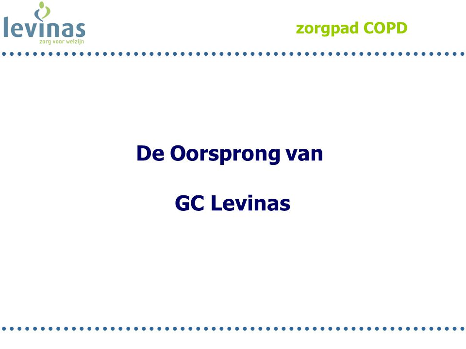 De Oorsprong van GC Levinas