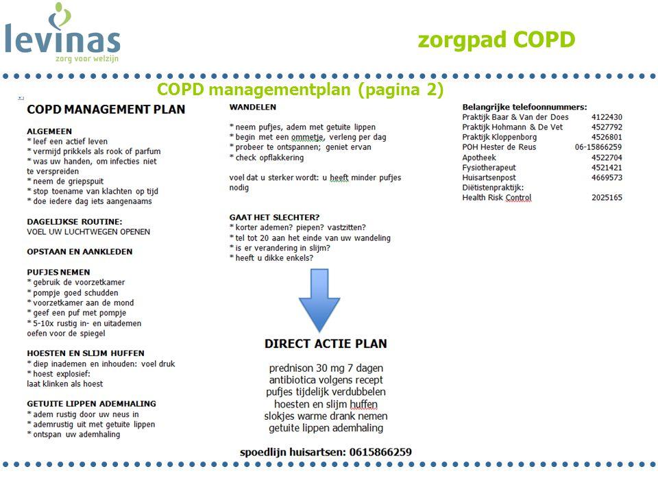 COPD managementplan (pagina 2)