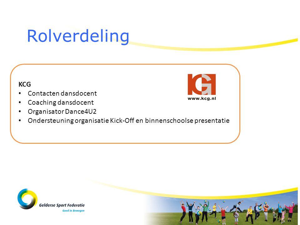 Rolverdeling KCG Contacten dansdocent Coaching dansdocent