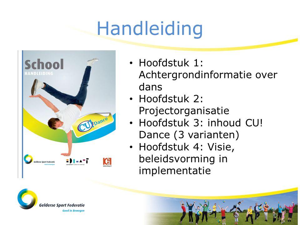Handleiding Hoofdstuk 1: Achtergrondinformatie over dans