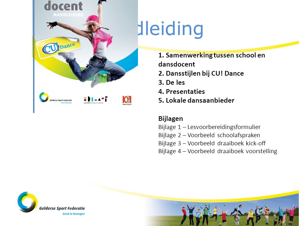 Handleiding 1. Samenwerking tussen school en dansdocent