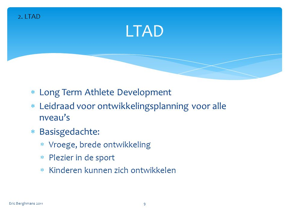 LTAD Long Term Athlete Development