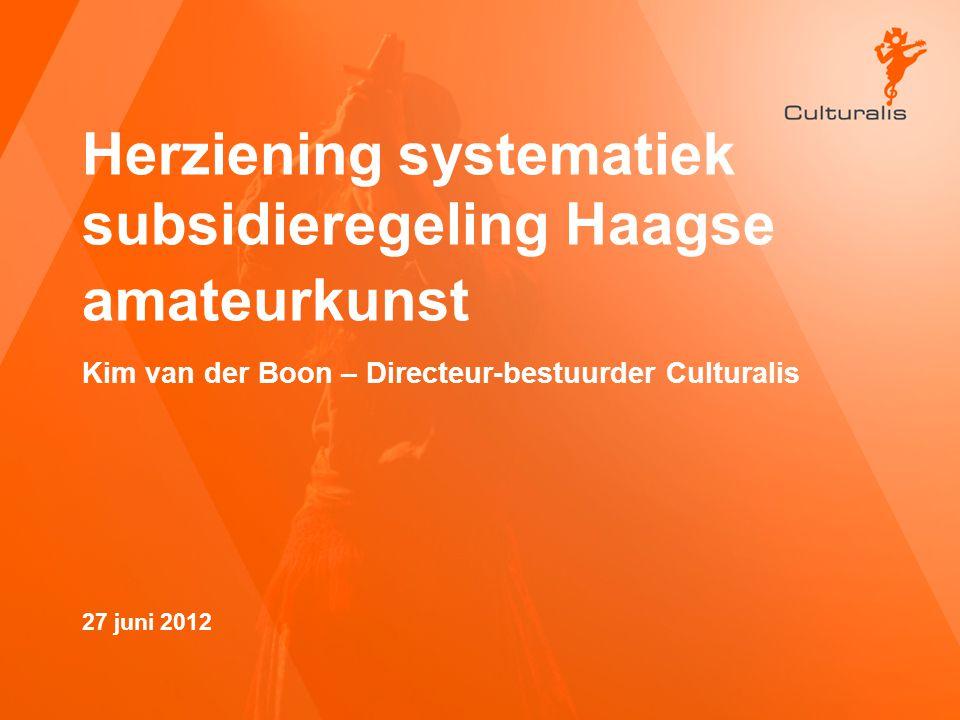 Herziening systematiek subsidieregeling Haagse amateurkunst