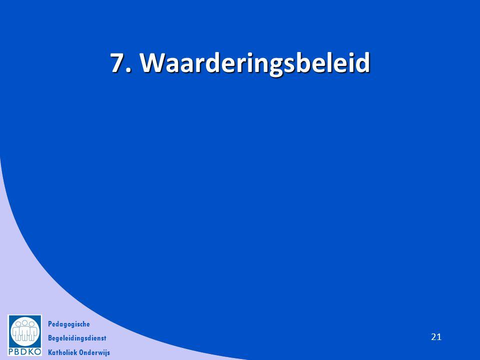 7. Waarderingsbeleid
