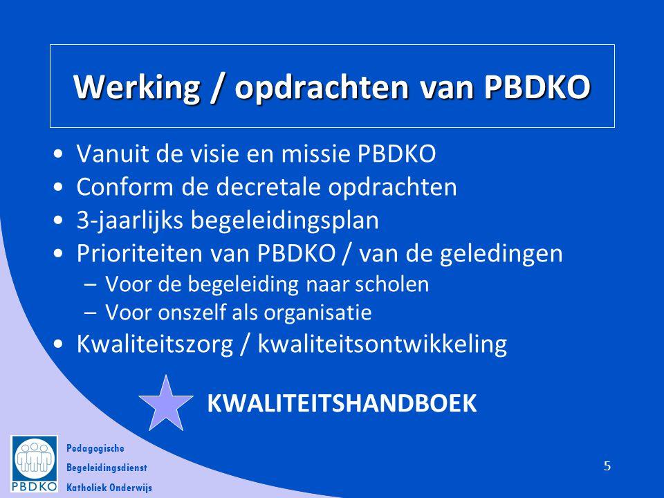 Werking / opdrachten van PBDKO