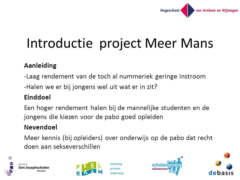 Introductie project Meer Mans