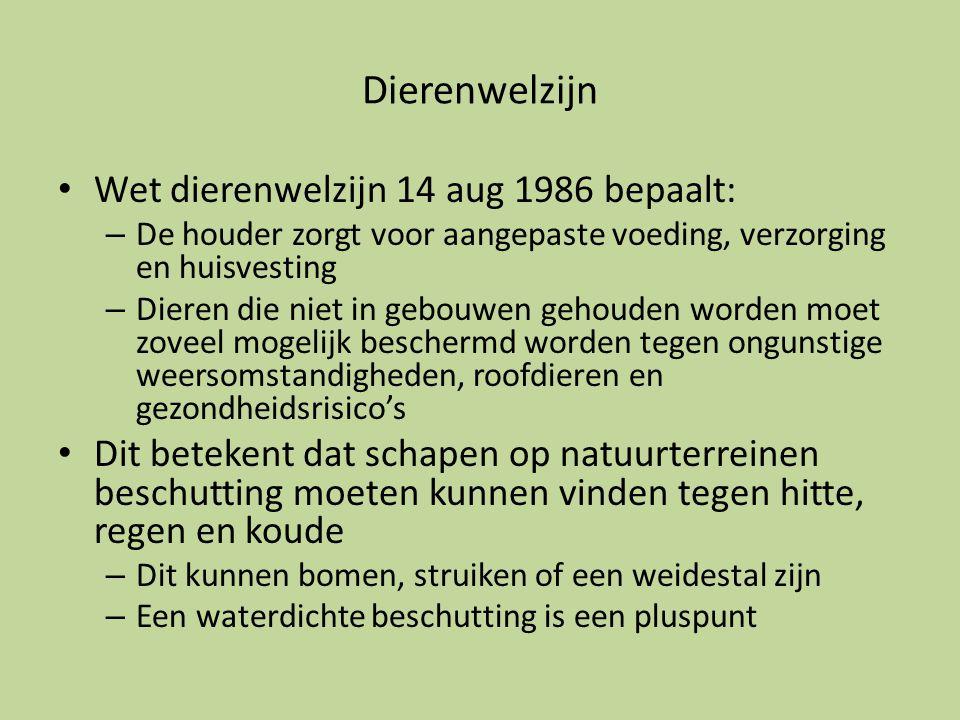 Dierenwelzijn Wet dierenwelzijn 14 aug 1986 bepaalt: