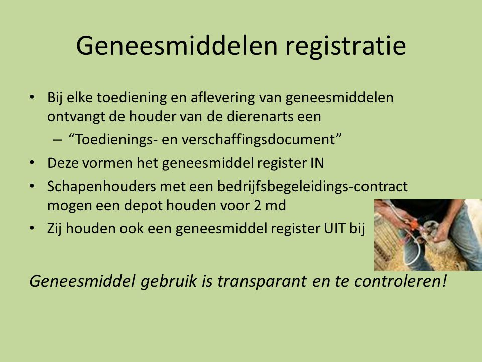 Geneesmiddelen registratie