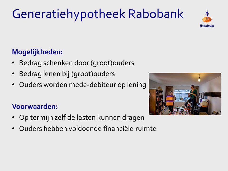 Generatiehypotheek Rabobank
