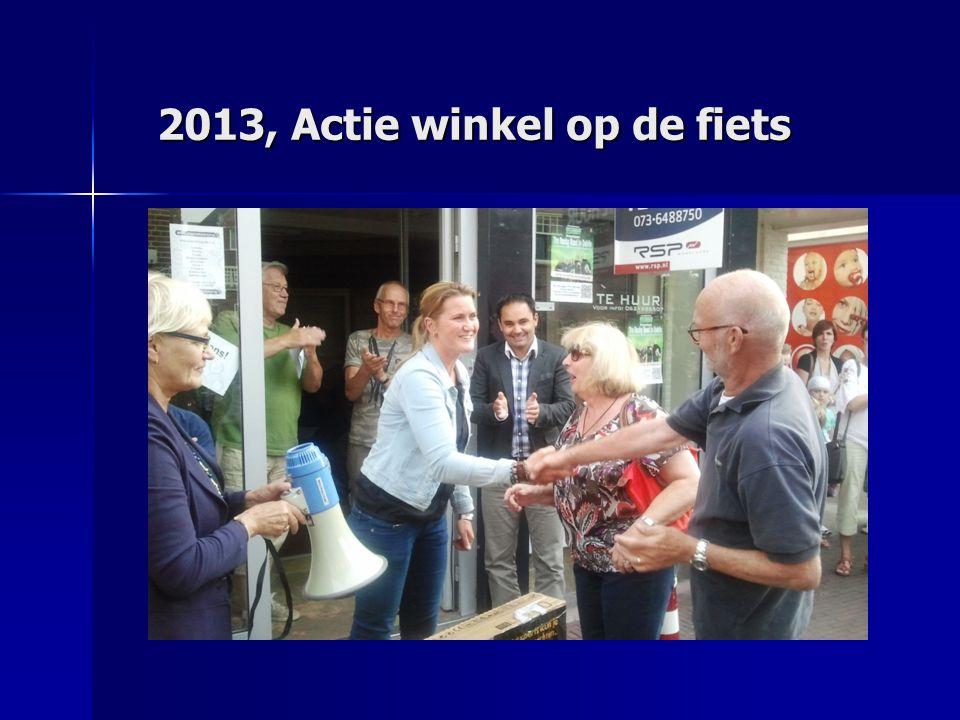 2013, Actie winkel op de fiets