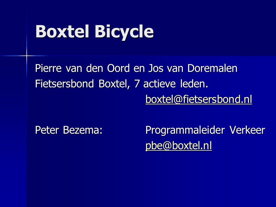 Boxtel Bicycle Pierre van den Oord en Jos van Doremalen
