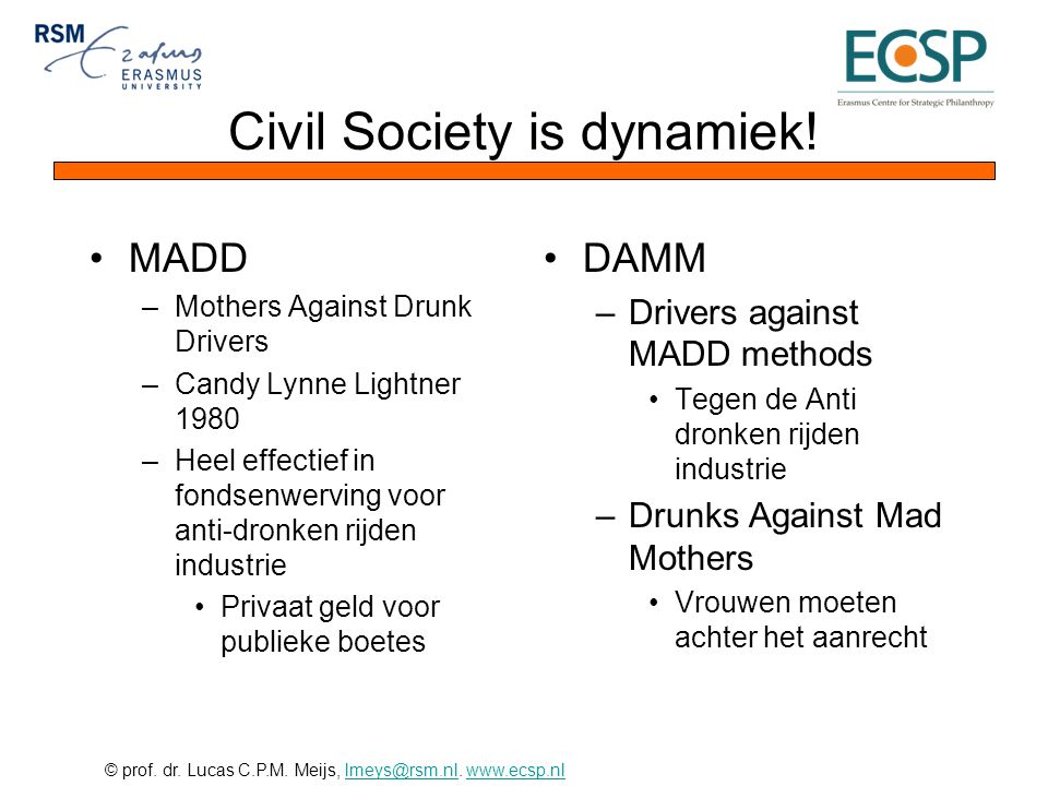 Civil Society is dynamiek!