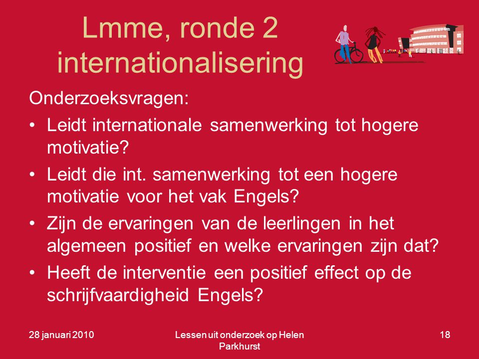 Lmme, ronde 2 internationalisering