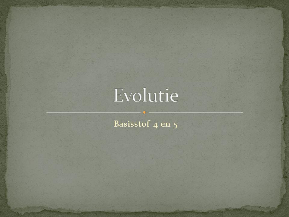 Evolutie Basisstof 4 en 5