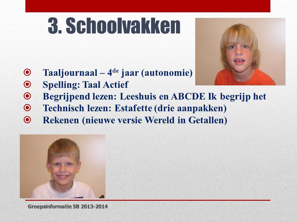 3. Schoolvakken Taaljournaal – 4de jaar (autonomie)