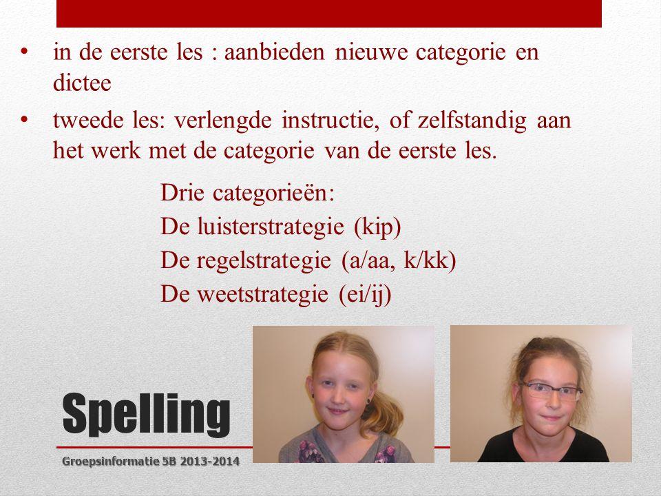 Spelling in de eerste les : aanbieden nieuwe categorie en dictee
