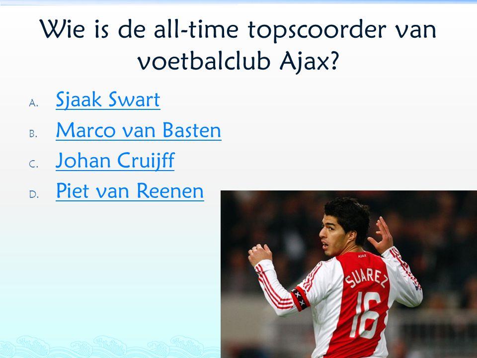 Wie is de all-time topscoorder van voetbalclub Ajax