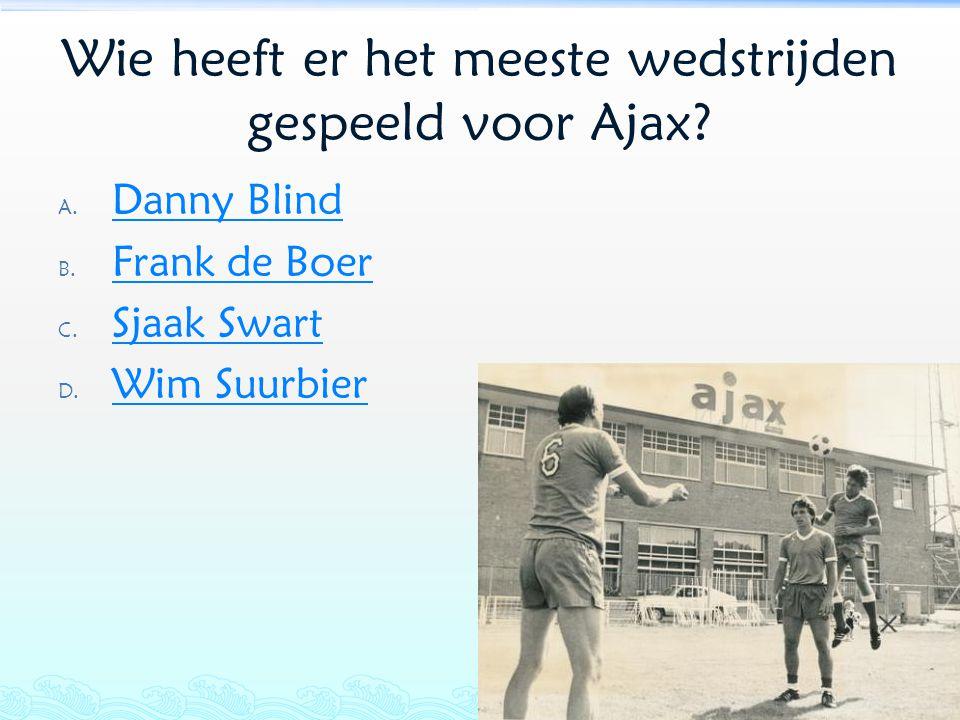 Wie heeft er het meeste wedstrijden gespeeld voor Ajax