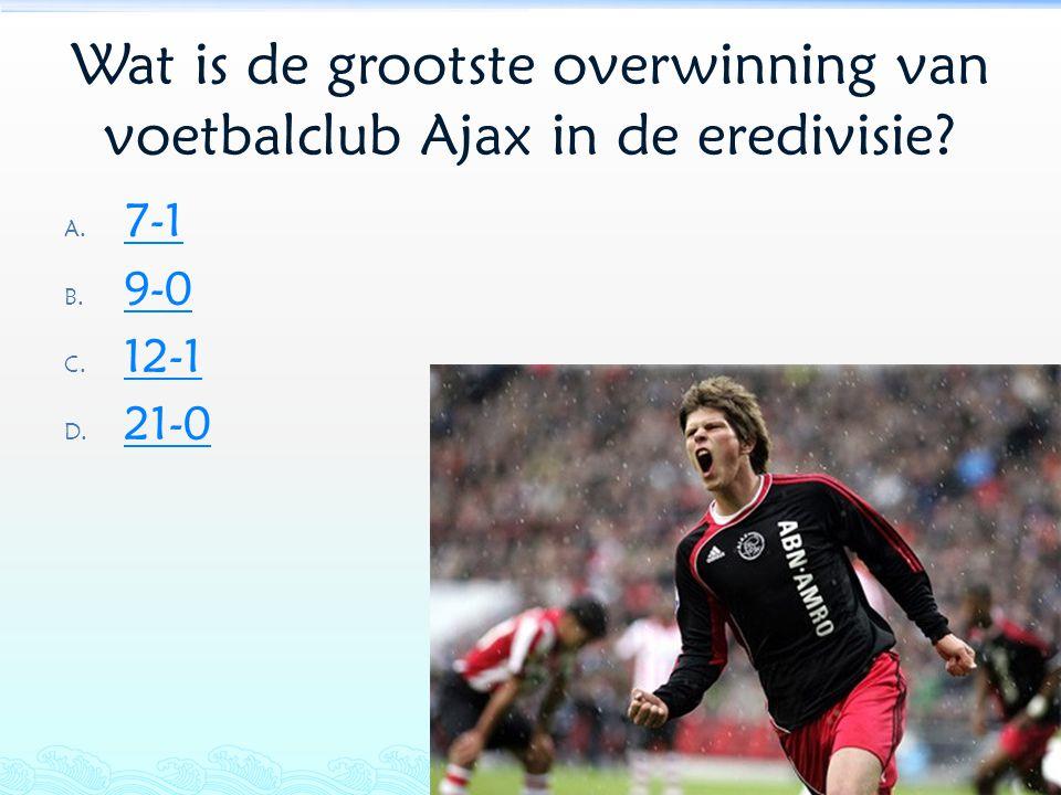 Wat is de grootste overwinning van voetbalclub Ajax in de eredivisie