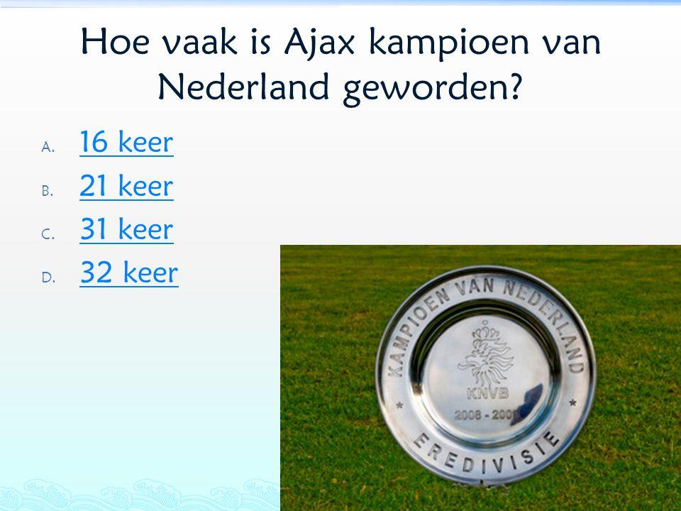 Hoe vaak is Ajax kampioen van Nederland geworden