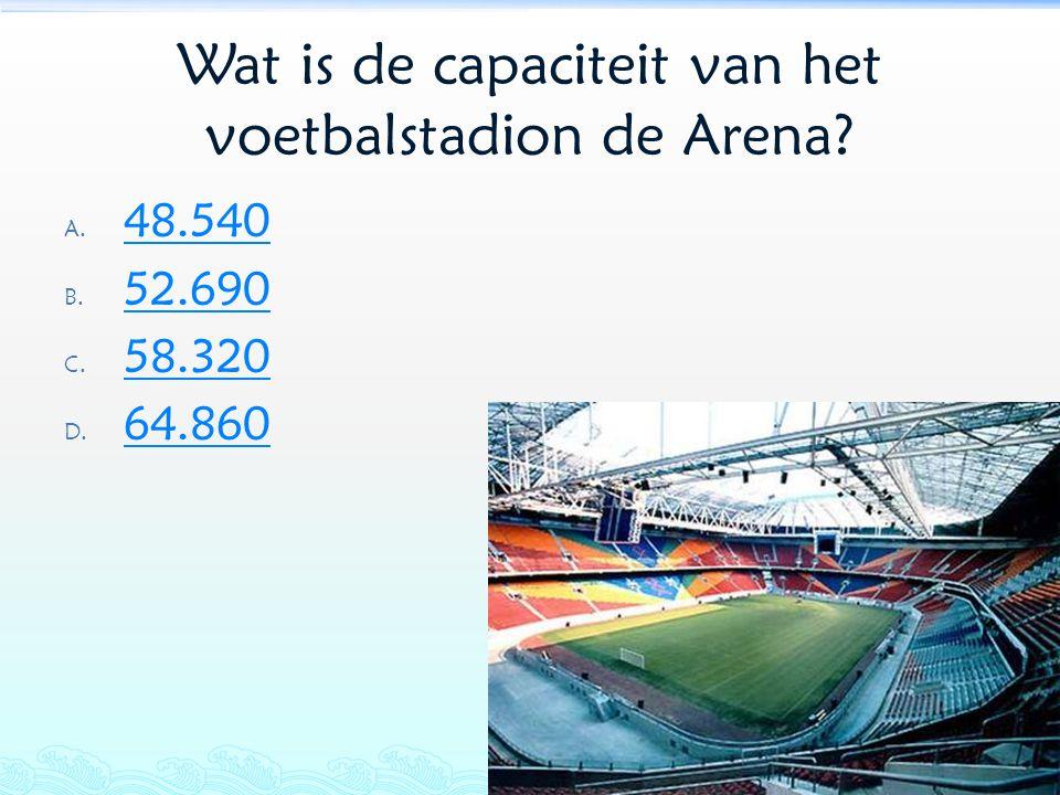 Wat is de capaciteit van het voetbalstadion de Arena