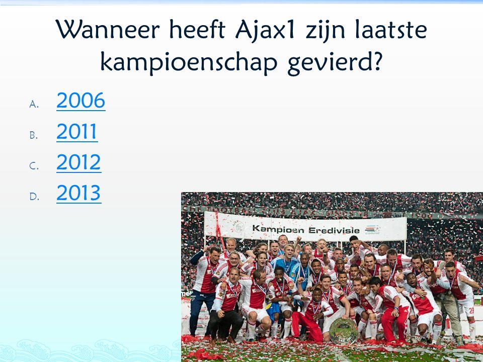 Wanneer heeft Ajax1 zijn laatste kampioenschap gevierd
