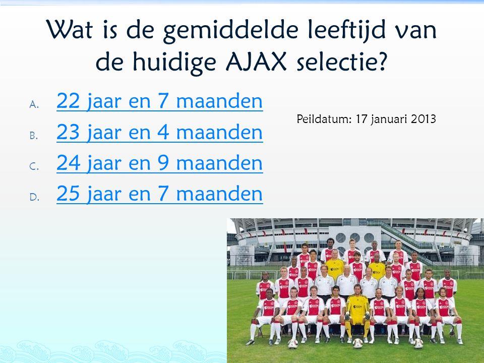 Wat is de gemiddelde leeftijd van de huidige AJAX selectie