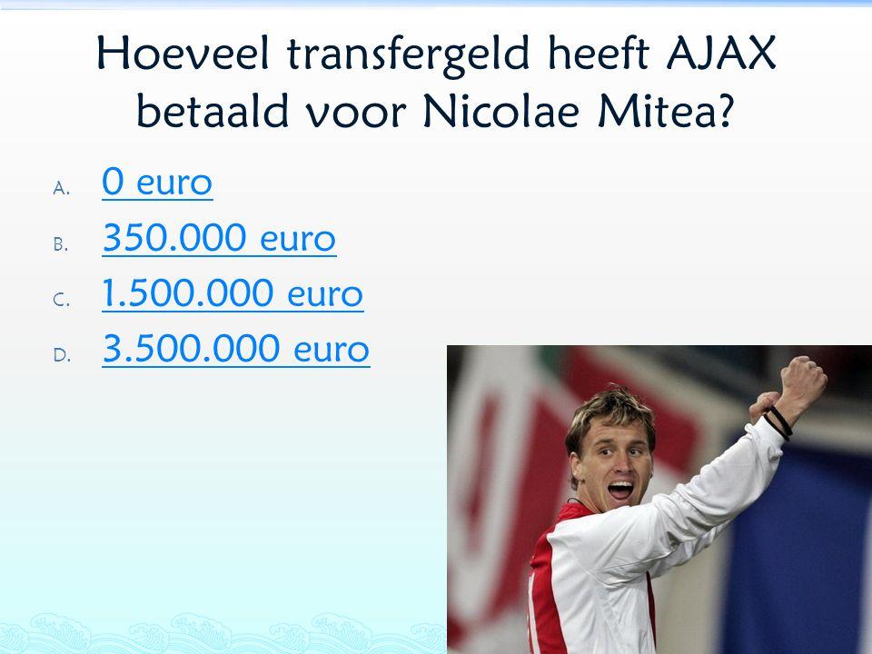 Hoeveel transfergeld heeft AJAX betaald voor Nicolae Mitea
