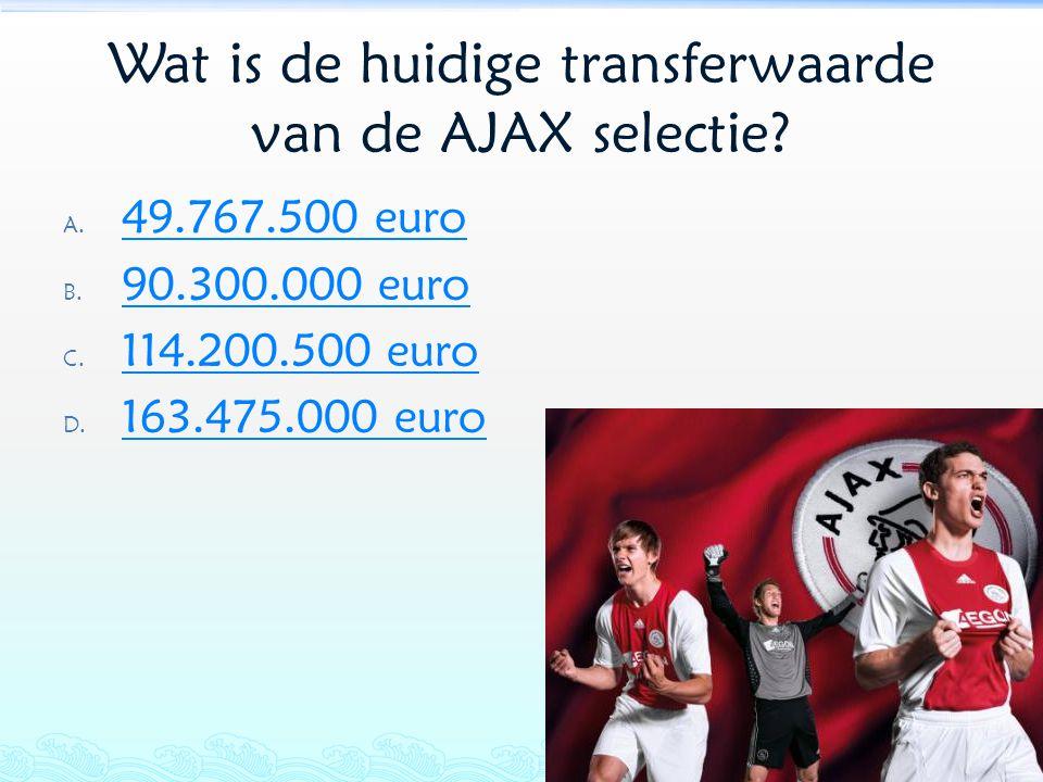 Wat is de huidige transferwaarde van de AJAX selectie